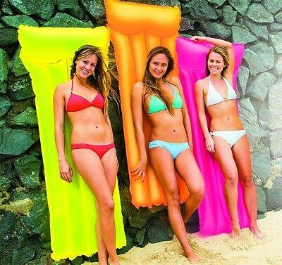 Colchoneta Hinchable con cojín integrado para piscina o playa intex 183 x...