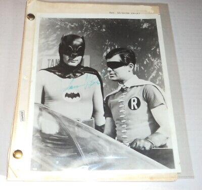 ORIG. 1988 BATMAN Screenplay w/ PHOTO of Batman & Robin SIGNED by ADAM WEST