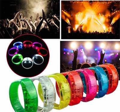 LED LIGHTED BRACELET Glow Flash Blinking Flashing Motion & Sound Voice Activated](Wristband Light)
