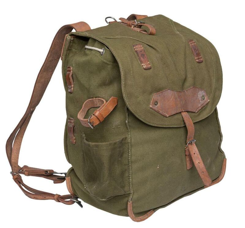 Genuine Romanian army rucksack bag military surplus OD shoulder strap canvas