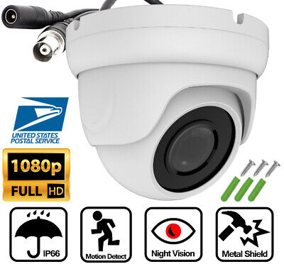 AHD TVI 2MP 1080P Night Vision Security Camera 2.8mm Lens Dome CCTV Waterproof