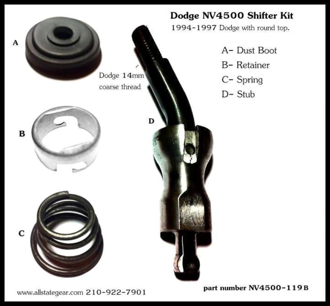 manual transmission shifter repair kit