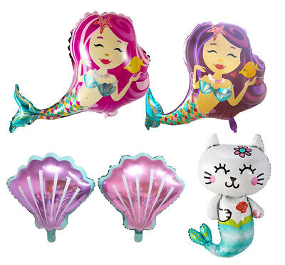 Shell Mermaid Balloon, Under the Sea Party Decorations for Birthday Baby Shower