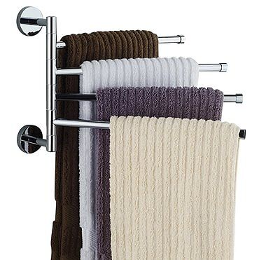 Bathroom Towel Bar Rack Holder Shelf Set Stand Accessories Bath Wall Organizer (Towel Holder Stand)