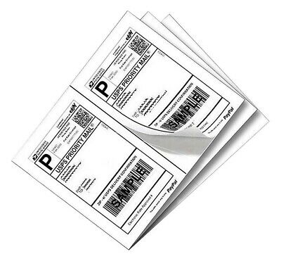 100-1000 Shipping Labels 8.5 X 5.5 Self Adhesive 2 Labels Per Sheet Usps Usa