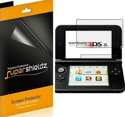 3X Supershieldz HD Blameless LCD Screen Protector Shield Cover For Nintendo 3DS XL