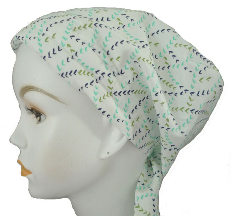 Classic White Cancer Hat Alopecia Cotton Hair loss Scarf Turban Head Wrap Cover