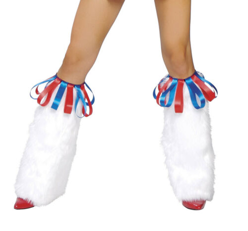 Legwarmers Cheerleader Legwarmers LW4142 Ribbon Top Warmers Rave Legwarmers ST