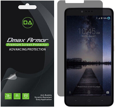 Deluxe Armor Pack - 2-Pack Dmax Armor Privacy Anti-Spy Screen Protector for ZTE Grand X Max 2