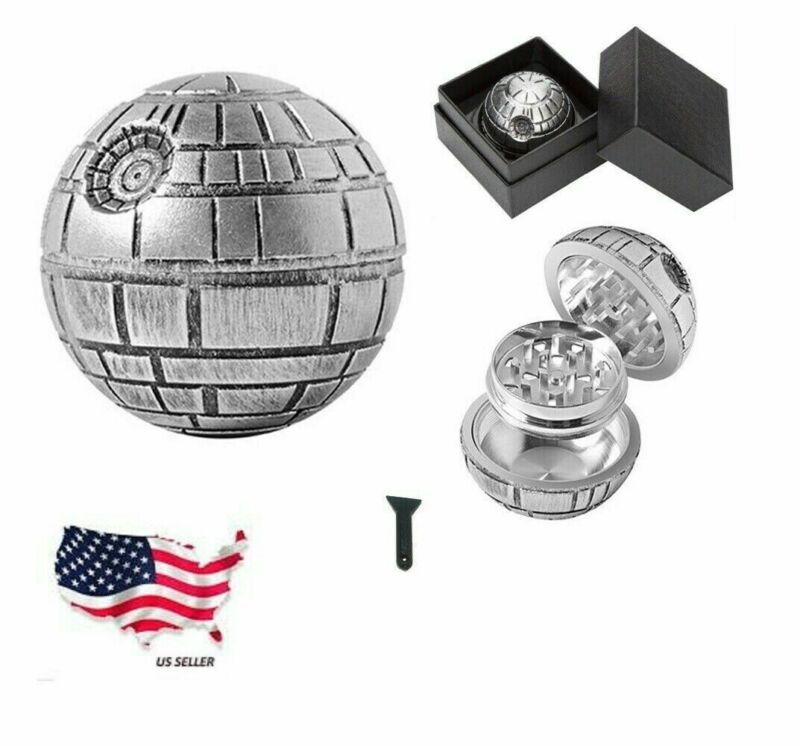 Death Star Star Wars Grinder Aluminum Herb Spice 3 Layers w/ Gift Box Scrapper