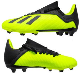 Adidas Boys Girls X 18.3 FG SYELLO Firm Ground Football Boots New Boxed