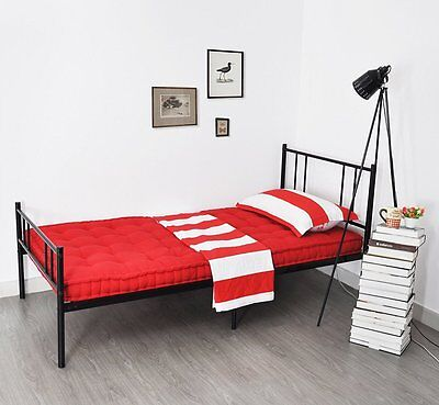 Black 3FT Single Metal Bed Frame in Strong structure Bedstead Bedroom For Adult