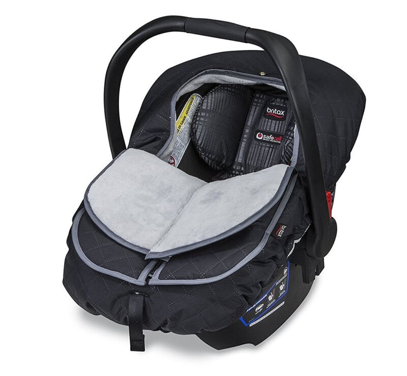 Britax B-Warm Insulated Infant Car Seat Cover In Polar Mist New Free Shipping!
