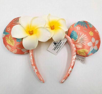 Mickey Mouse Minnie Ears Aulani Hawaii Disney Parks Exclusive Plumeria Headband