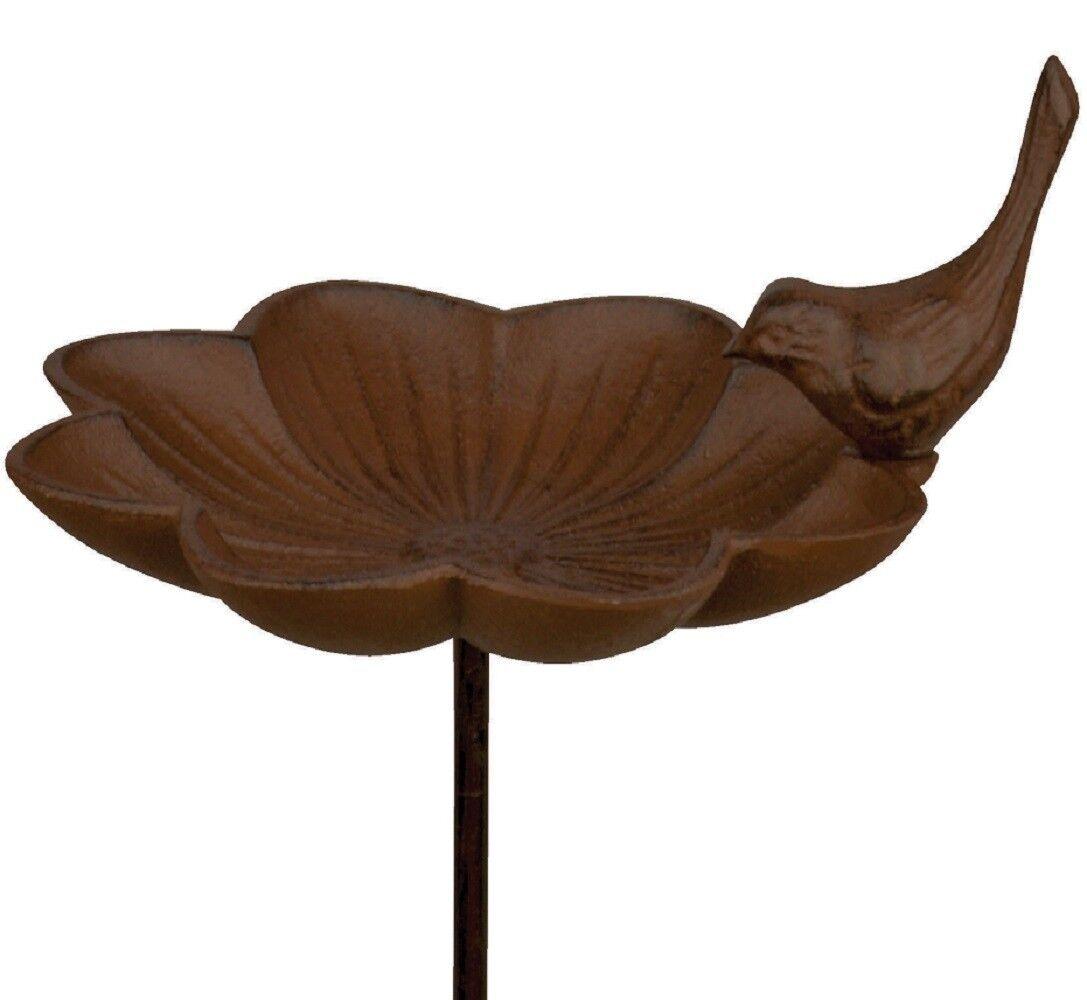 Esschert Design Abbeveratoio per uccelli VASCA PISCINA ciotola di cibo CAST Aste