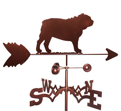 Bull Dog  Weathervane With Garden Mounting