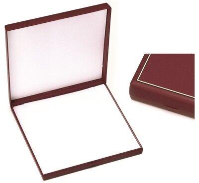 Grande Joyero Para Collar / Juego - Rojo - Caja Regalo Marco...