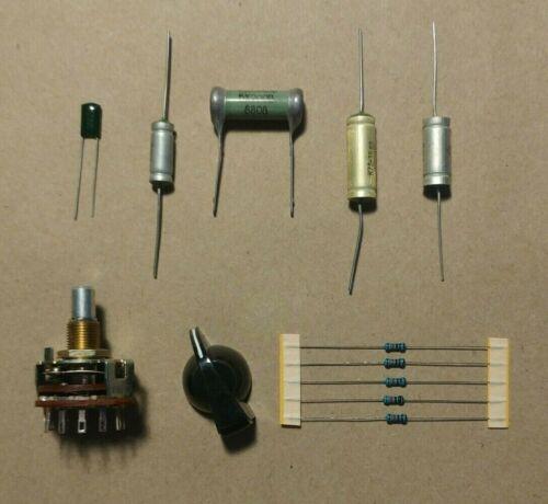 Kit 6 Way Rotary Varitone Selector Switch Chicken Head Knob 4 USSR Soviet Cap