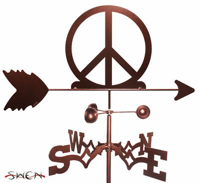 SWEN Products WOODSTOCK PEACE SIGN SYMBOL Steel Weathervane