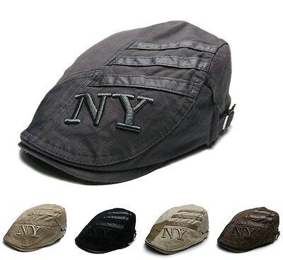 Schiebermütze Golfmütze Mütze Barett Hut Gatsby Flatcap Cap Kappe Schirmmütze NY