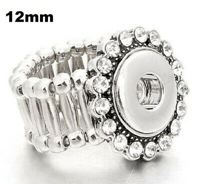 Fits Ginger Snap MINI GINGER SNAPS STRETCH RING JEWELRY Petite 12mm Button Charm - Ginger Snap Rings
