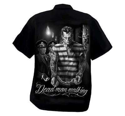 Day Of The Dead Man (DGA Day of the Dead Rockabilly Men's Button Down Work Shirt Dead Man)