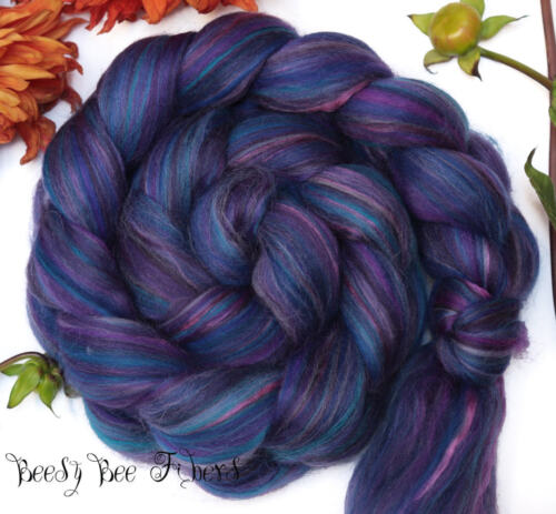 VIOLET SABREWING Merino Mulberry Silk Wool Roving Combed Top 4 oz
