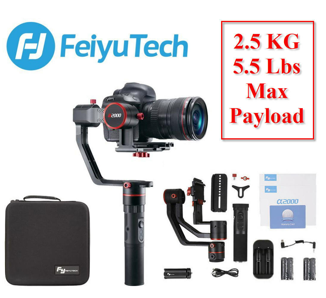 Feiyu Tech a2000 3-Axis Gimbal Handheld Stabilizer for Mirro