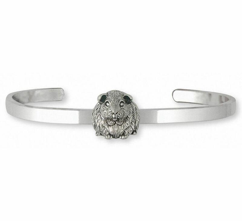 Guinea Pig Bracelet Jewelry Sterling Silver Handmade Piggie Bracelet GP12X-CB