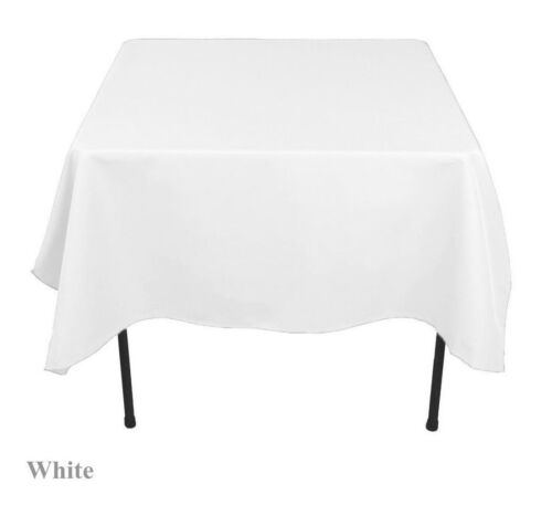 "60""x 60 inch Square Overlay Tablecloth 100% polyester Wholes"