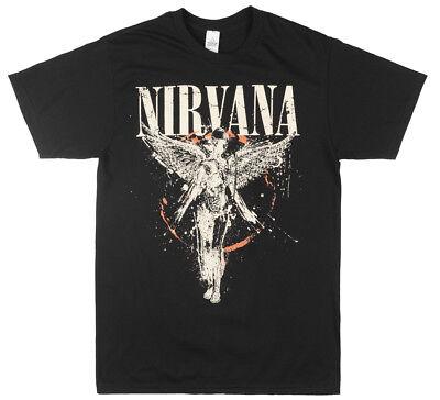 Nirvana In Utero Album T Shirt Mens Rock Music Tee Mens Black Live Nation Nwt