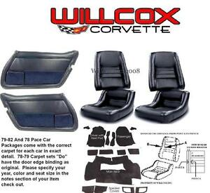 79 80 81 82 Corvette Interior Package Seat Covers Carpet