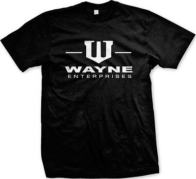 Wayne Enterprises   Bruce Wayne Movie Humorous Funny Slogans  Mens T Shirt