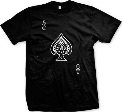 Ace Of Spades   Playing Card Deck Of Cards Mens T Shirt