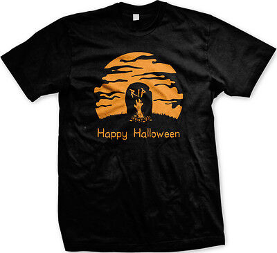 Happy Halloween RIP Tombstone Graveyard Scary Horror Ghouls Zombie Mens T-shirt](Happy Halloween Ghouls)
