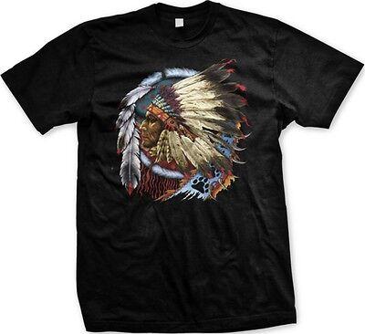 Native American Indian Chief Dream Catcher Spirit Animal  Mens T Shirt