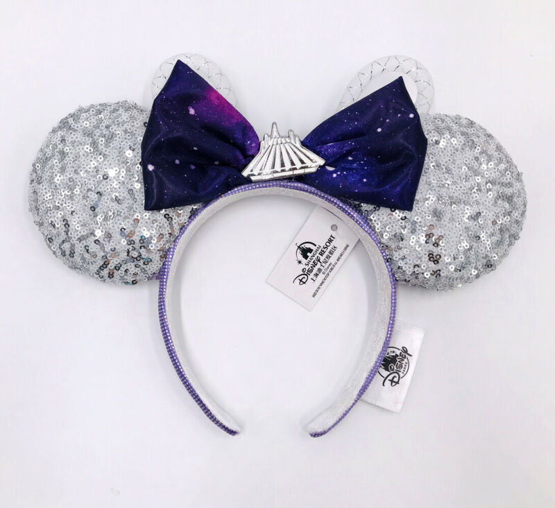 Sequins Shanghai Purple Minnie Mouse Space Mountain Ears Disney Parks 2021
