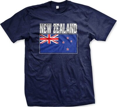 New Zealand Country Flag Nationality Ethnic Pride  Mens T Shirt