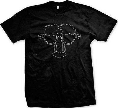 Funny Face Glasses with Nose and Mustache - Disguise Funny Mens T-shirt (Funny Glasses And Nose)