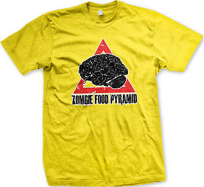 Zombie Food Pyramid Brains Diet Eat Groups Undead Feed On Living Men's - Zombie Brains