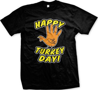 Happy Turkey Day T-shirt - Happy Turkey Day Thanksgiving Holiday Celebrate Thankful Harvest Mens T-shirt