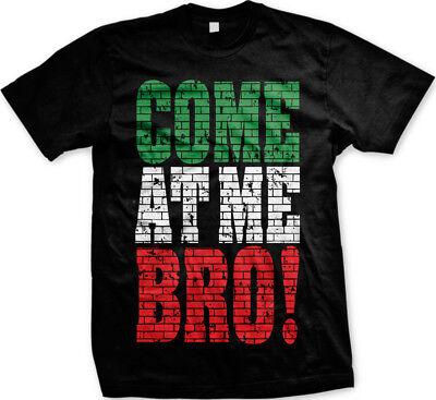Come at Me Bro! - Brick Design Funny Sayings Mens T-shirt