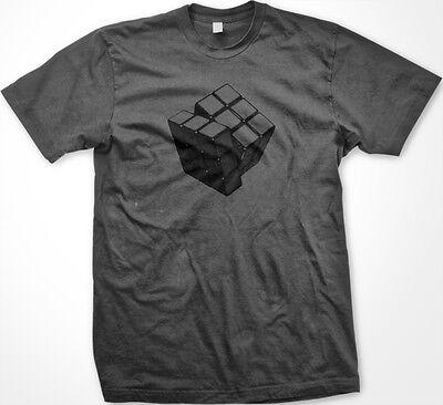 SALE Rubiks Rubix Cube Puzzle Game Smart Intelligent Genius IQ Charcoal T-shirt (Smart Cubes)