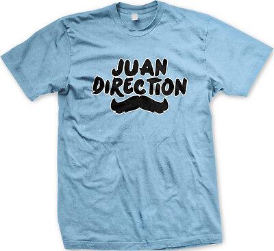 Juan Direction Mustache Latino Pop Stars Group Band Hispanic Group Mens T Shirt
