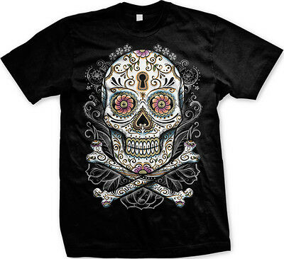 Skull and Crossbones Tattoo Gangster Pirate FREE SHIPPING New Mens - Skull Crossbones