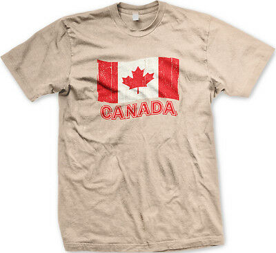 Red Team Pride T-shirt (Canada Flag Distressed Pride Maple Leaf Red Colors National Team Men's)
