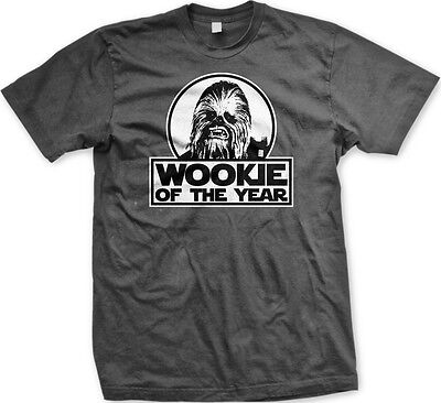 Wookie Of The Year Star Wars Chewbacca Funny Humor Jedi Empire Meme Mens T Shirt
