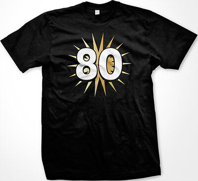 80 80th Eighty Years Old Happy Birthday Party Getting Old New Men's T-shirt - Happy 80th Birthday
