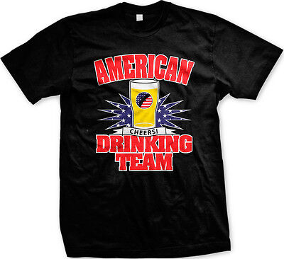 Red Team Pride T-shirt (American Drinking Team Cheers USA Flag Red White Blue Pride Beer Mens)