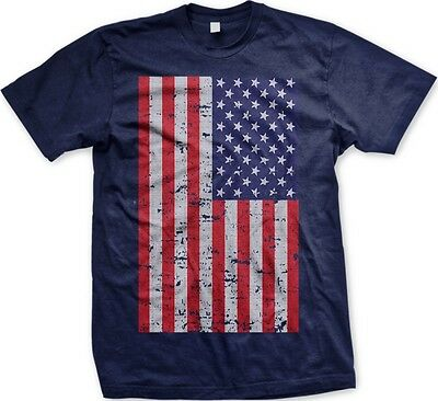 American Flag Oversized Print USA America National Ethnic Pride -Mens (American Pride Print)